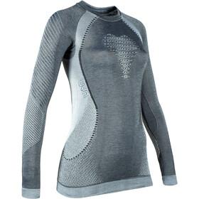 UYN Cashmere Silky UW LS Roundneck Shirt Women celebrity silver